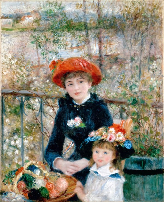 Two Sisters - Famous Renoir Painting