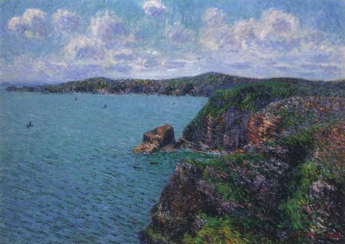 Gustave Loiseau painting of  Cliffs at Cape Frehel