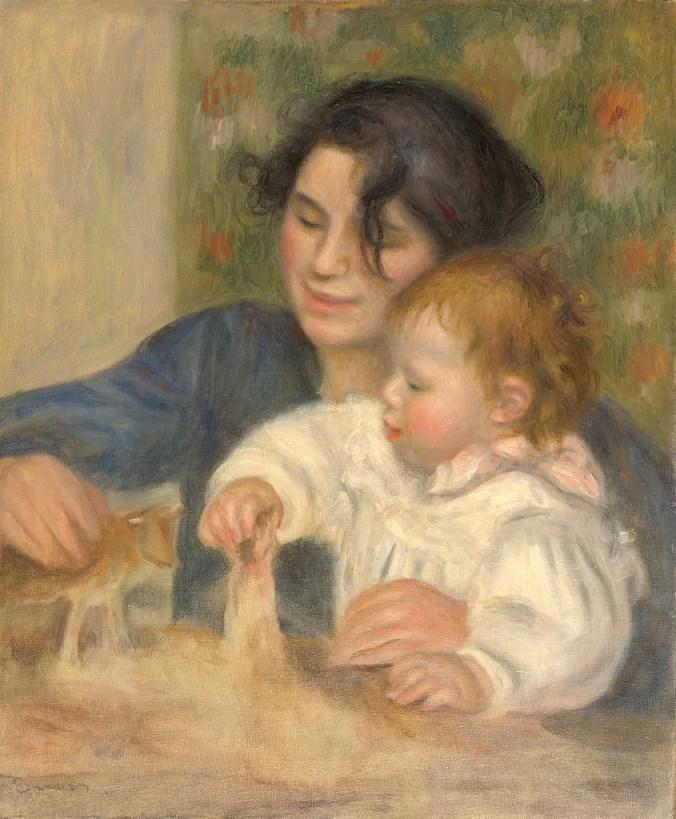 Gabrielle Renard & Infant Son Jean - one of Renoir's most famous impressionist paintings