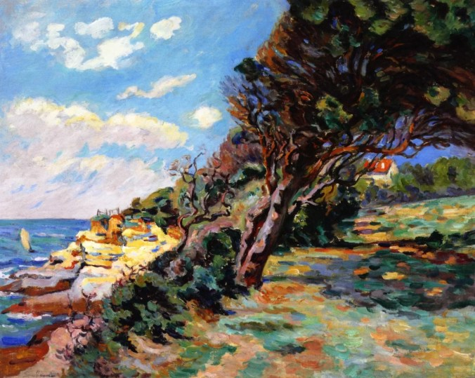 Landscape by the Impressionism Artist Armand Guillaumin