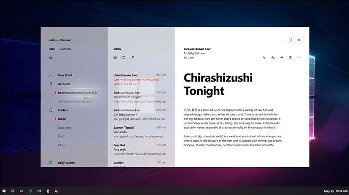 Эффект прозрачности Windows 10