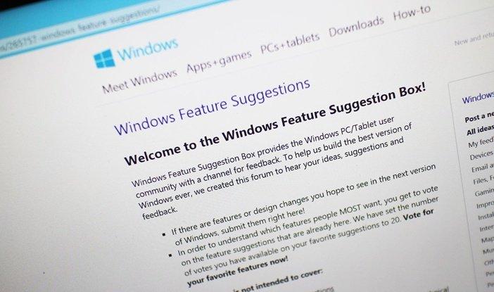 Голосование за будущие функции Windows