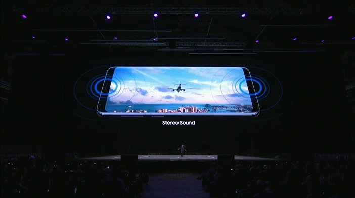 Galaxy S9 стереодинамики