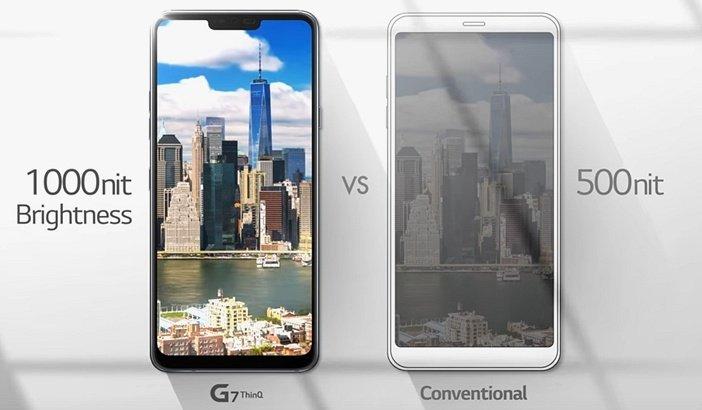 LG G7 и G6 отличие в яркости дисплея