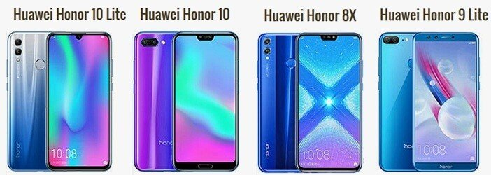 Отличия Honor 10 Lite, 10, 8X и Honor 9 Lite
