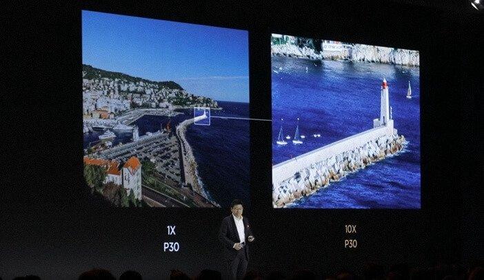 Увеличение в Huawei P30