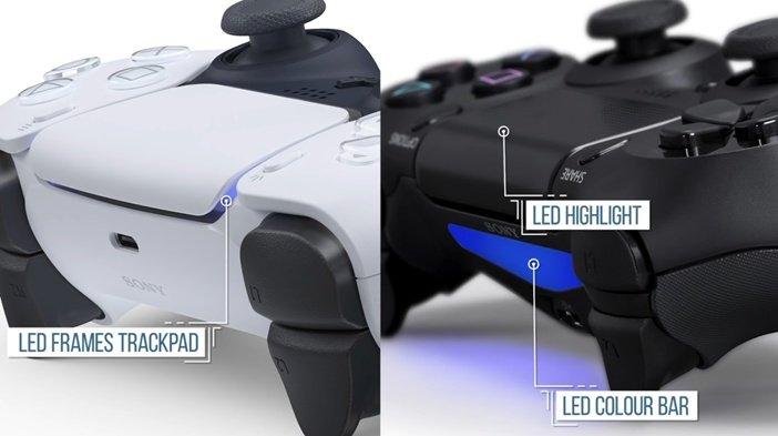 PS5 DualSense и PS4 DualShock 4 - световая LED панель и индикатор