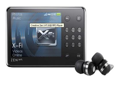 Creative Zen X-Fi 8GB MP3 Player