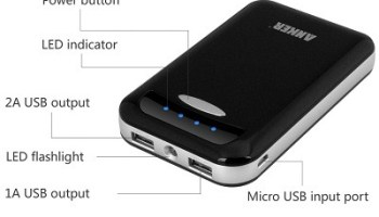 Anker Astro E4 13000mAh Portable High Capacity Dual-Port External Battery Pack Power Bank Backup Charger