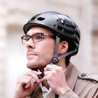 The Foldaway Bicycle Helmet