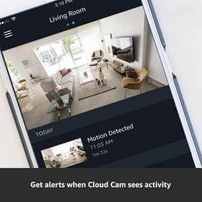 Amazon Cloud Cam Security Camera, Works with Alexa 2