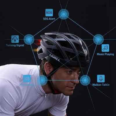 The Wireless Turn Signal Tail Light Bike Helmet