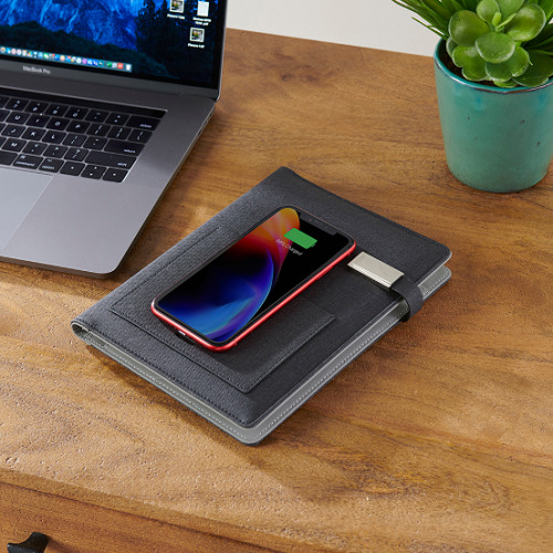 Wireless Device Charging Notebook