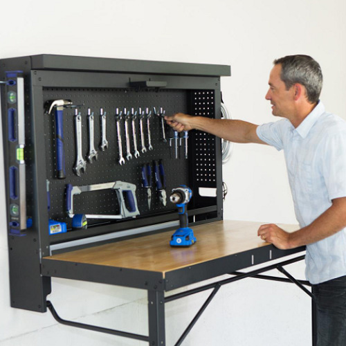 Wall-Mounted-Folding-Workbench