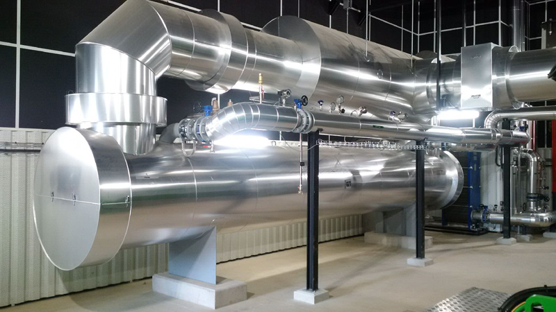 exhaust silencer for generator sets