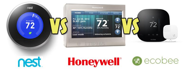 Nest, Honeywell, Ecobee Comparison
