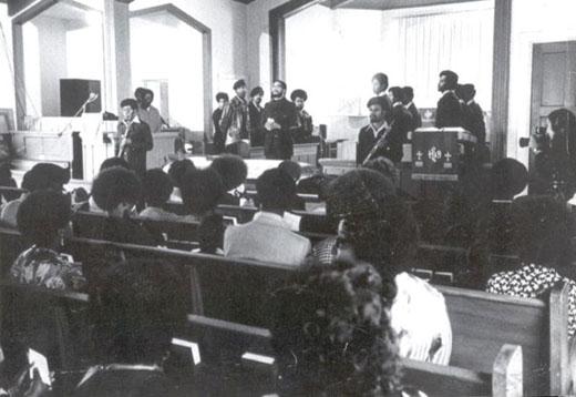 Inside Church of George Jackson Funeral