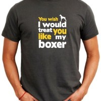 Idakoos Boxer Dog T-Shirts