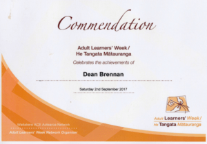 Commendation for Dean Brennan