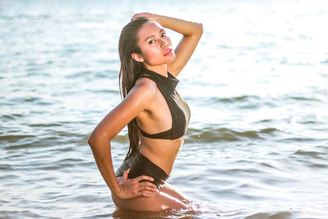 Adi Amor wearing Beach Fit swimwear