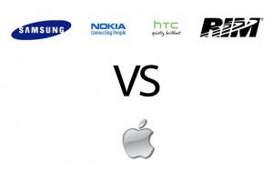 Samsung Nokia Htc Rim against Apple
