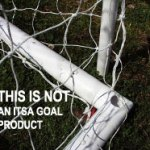 Plastic Goal net supports - pushed in a hole & not locked