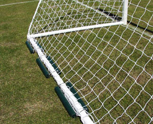 Freestanding Aluminium mini soccer goals - with counter balance weights ideal for artificial surfaces (available separately