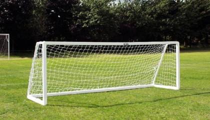 Five a Side Goal 12'x4′ – 3.6m x 1.2m uPVC Goalposts  – 3 Section Crossbar Version