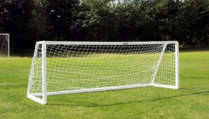 five-a-Side Goalpost 12'x 4′ uPVC – 1 Section Crossbar Version