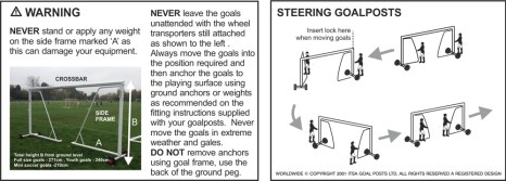 GOALPOST FOLDAWAY CARE AND MAINTENANCE DIAGRAM 2