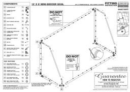 GOALPOSTS FOR THE GARDEN 12X6 PLASTIC