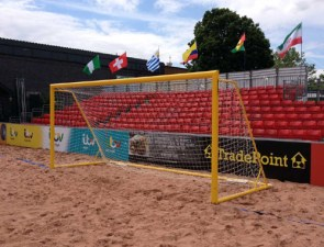 beach goalpost