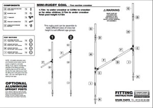 junior rugby fitting instructions