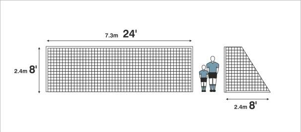 goalpost size