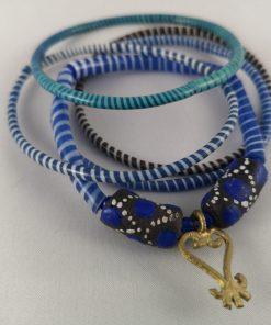 armband blauw recycled plastic duurzaam eco fairtrade teenslippers flipflop 122334485223 1