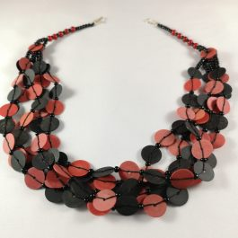 Ketting rood recycled Vinyl duurzaam eco fairtrade 1223354952212