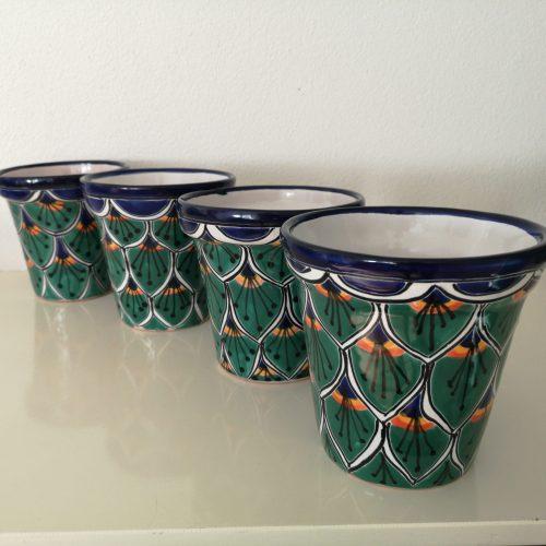 4 groene potten