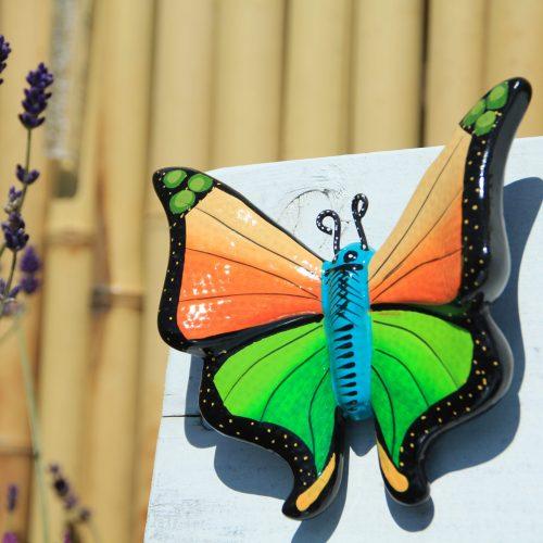 oranje vlinder lavendel