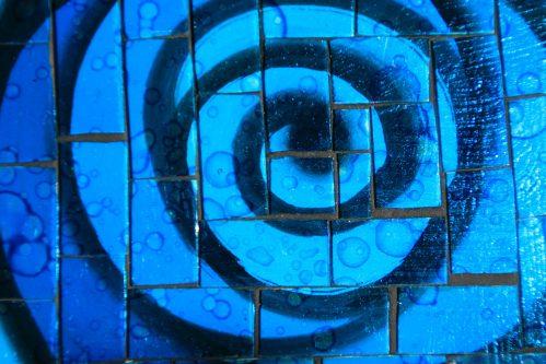 schaal blauw detail