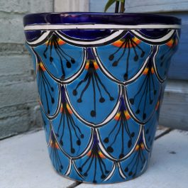 fairtrade blauw overpot 20 cm