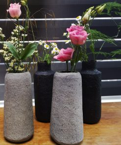 zwart grijze vazen papier