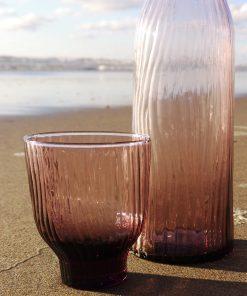 glas 300ml loodvrij kristal roze