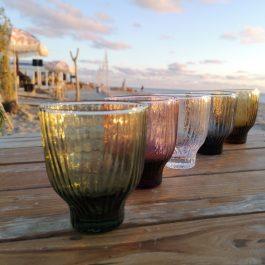 vijf kleuren loodvrij kristallen glazen