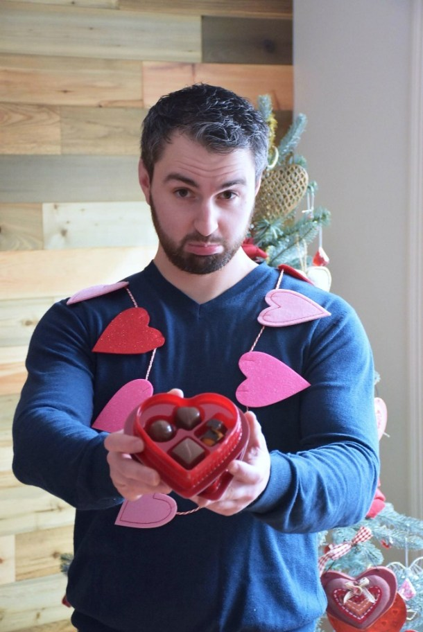 Man holding cheap Valentine Chocolates1