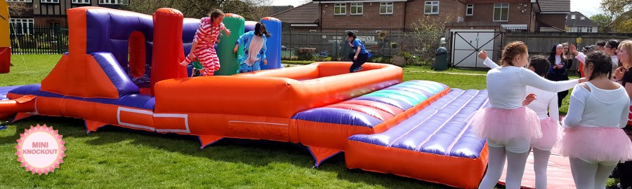 Mini it s a knockout  6 game package for small budget team events A Schools It s A Knockout game