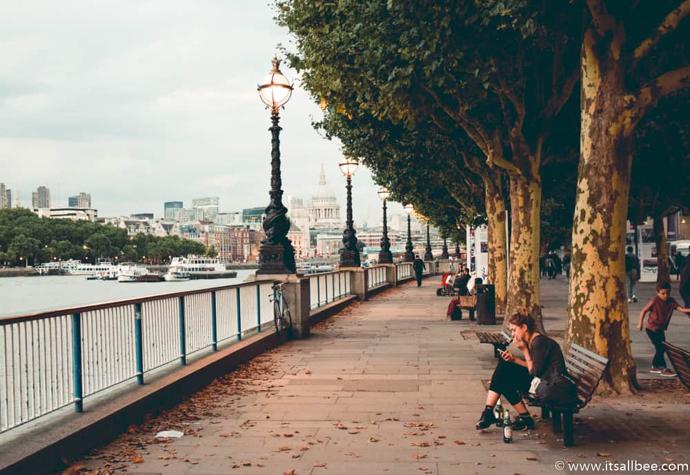 Southbank Walk London - River Thames Walk | Where To Stay In London | A Guide To Best Areas To Stay In The City