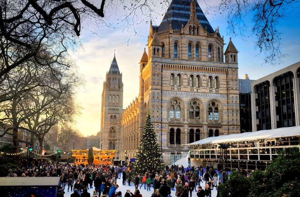 Natural History Museum Ice Rink - Top Things to Do in London During Christmas Holidays | Ice Rinks, Christmas Markets and Christmas Light...