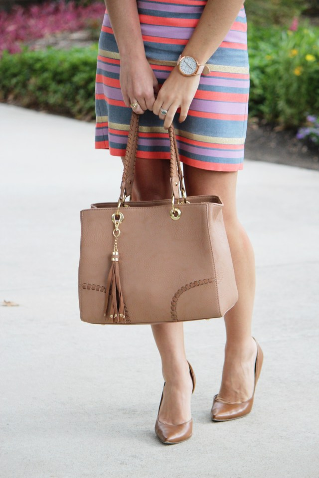 Social Media Breakdown, Striped Pencil Skirt, Business Attire, Women's business casual