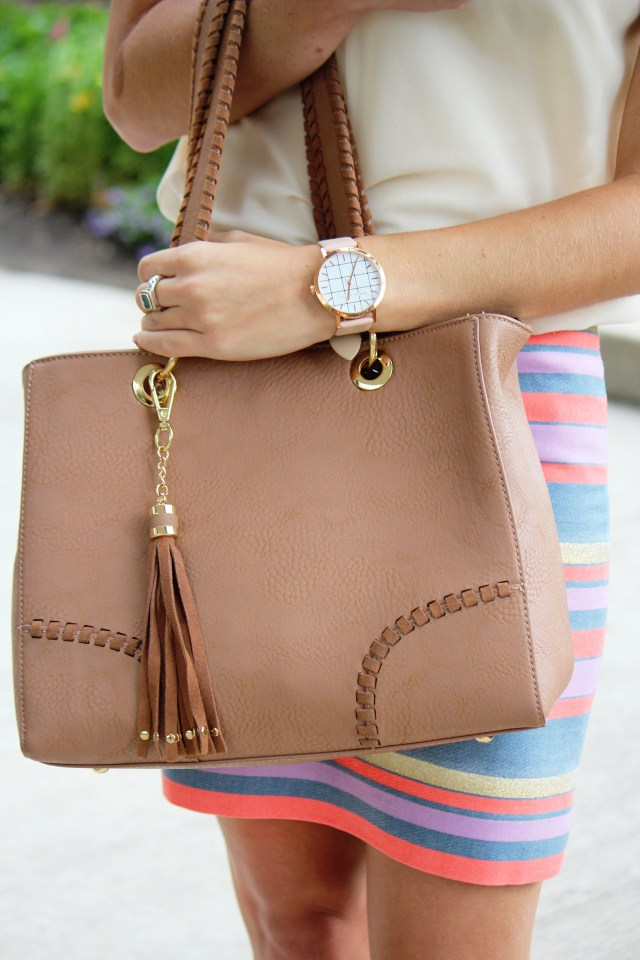 Tassel Purse + Christian Paul Watch + Business Casual Attire