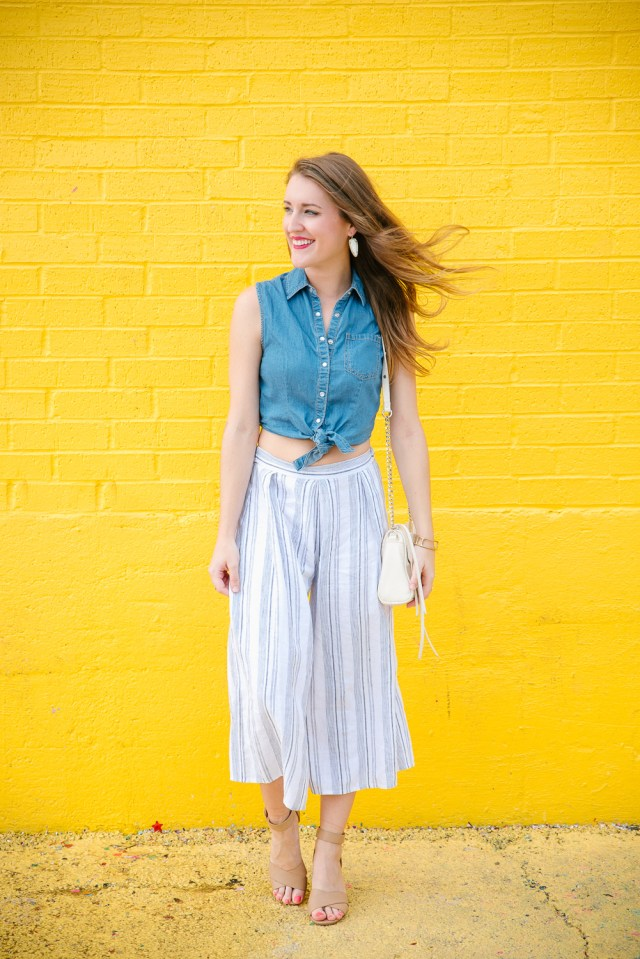 Summer Style: crop top + culottes